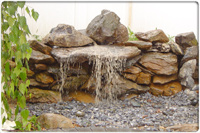Custom Built Rock Waterfall