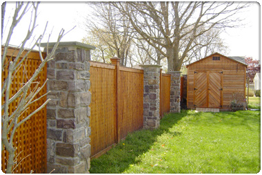 Custom Wood Fence Installation