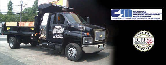 Carry Landscaping and MAsonry Long Island Truck